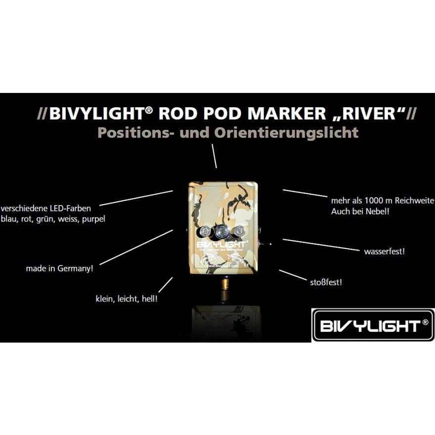 Bivylight Rod Pod Marker River, camo