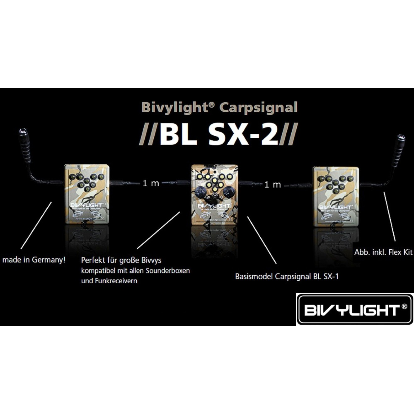 Das Eine Für Alle Flex Kit % Bivvy Light Carpsignal Bl Sx-1 Inkl Hell In Farbe